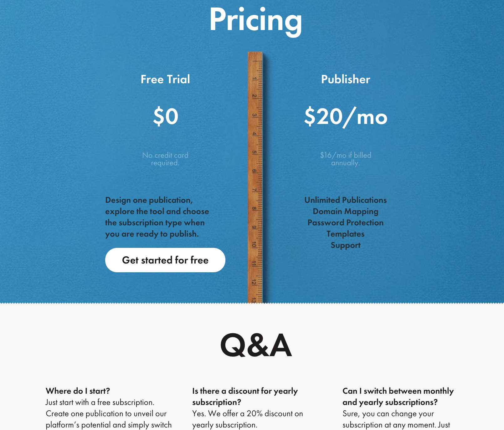 FAQs on pricing