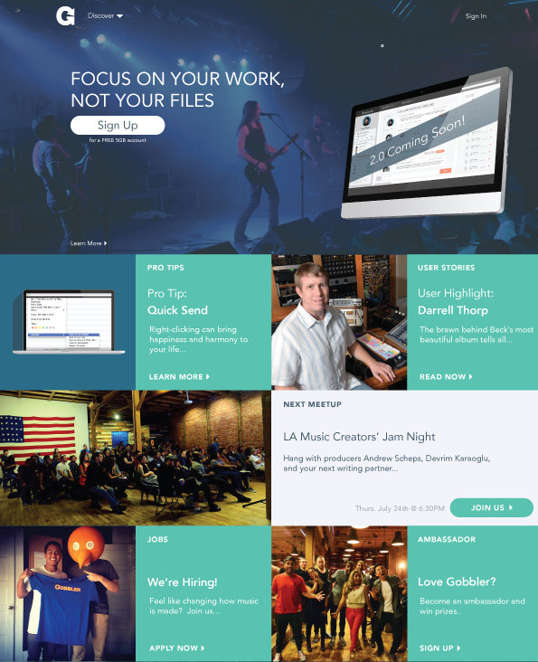 Gobbler, Landing Page, Home Page Design, Startup, Beta Sign Up