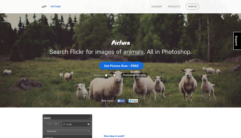 pictura, free plugin, photoshop plugin, design shortcut, startup design